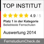 Auszeichnungen: Beliebteste Fernschule Platz 1